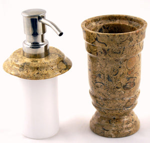 Fossil Stone Lotion Dispenser of Tasmanian Collection - Nature Home Decor