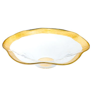 Genuine Gold Leaf Plated 8-inch Wave Bowl - Nature Home Decor