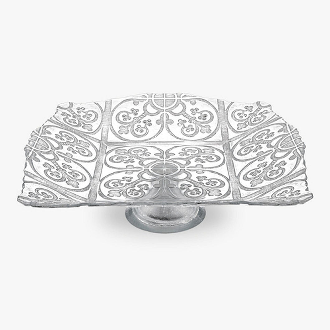 Guinnevere Silver Crystal Platter - Nature Home Decor
