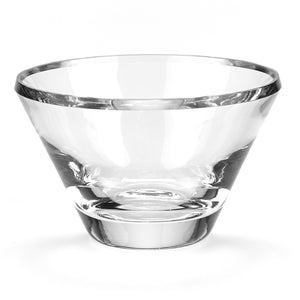 Heavy Clear Crystal 8-inch Trillian Beveled Bowl - Nature Home Decor