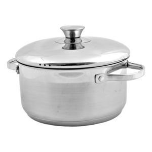 Heavy Duty Stock Pots Stainless Steel | 3.25 Quart With Lid - Nature Home Decor