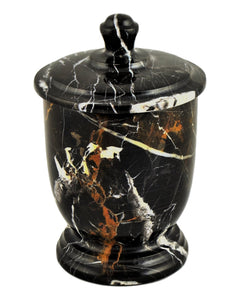 Michelangelo Marble Bathroom Cotton Jar - Nature Home Decor