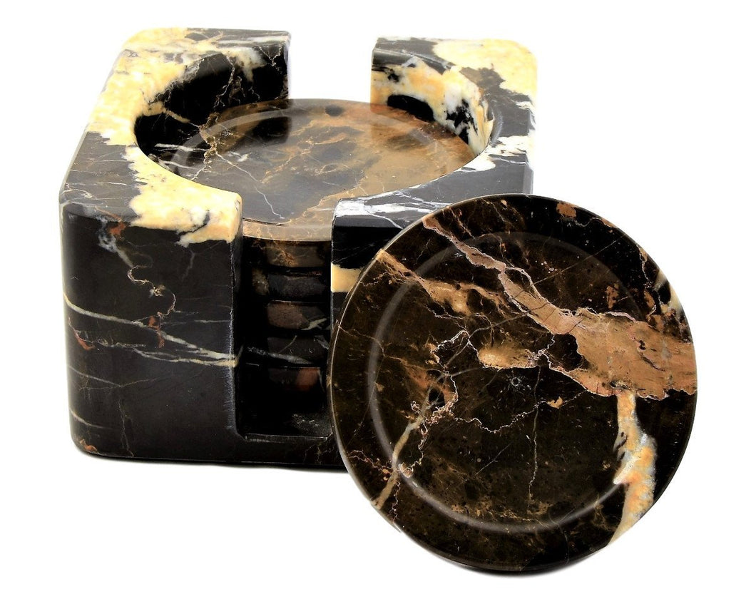 Michelangelo Marble Seven Piece Coaster Set - Nature Home Decor