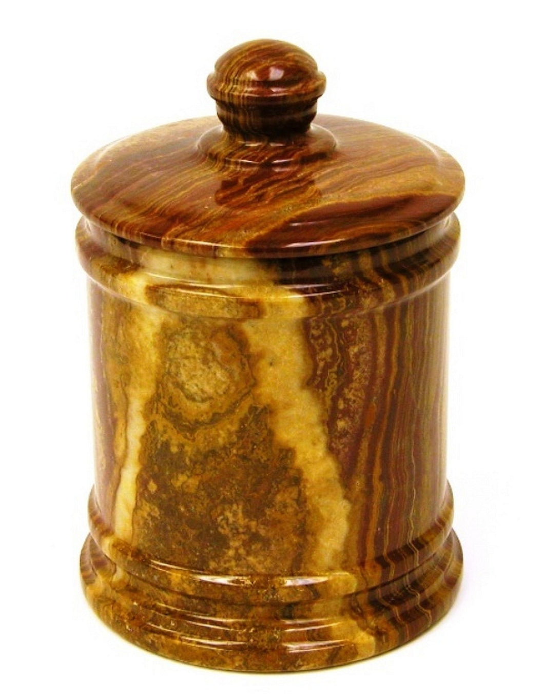 Multi Brown Onyx 7-inch Classic Kitchen Canister - Nature Home Decor