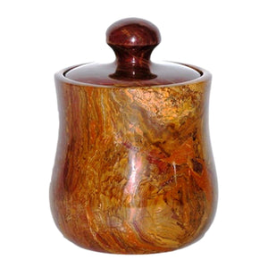 Multi Brown Onyx 7-inch Modern Kitchen Canister - Nature Home Decor
