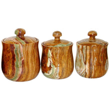 Load image into Gallery viewer, Multi Brown Onyx 7-inch Modern Kitchen Canister - Nature Home Decor