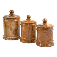 Load image into Gallery viewer, Multi Brown Onyx Classic Kitchen Canister - Nature Home Decor