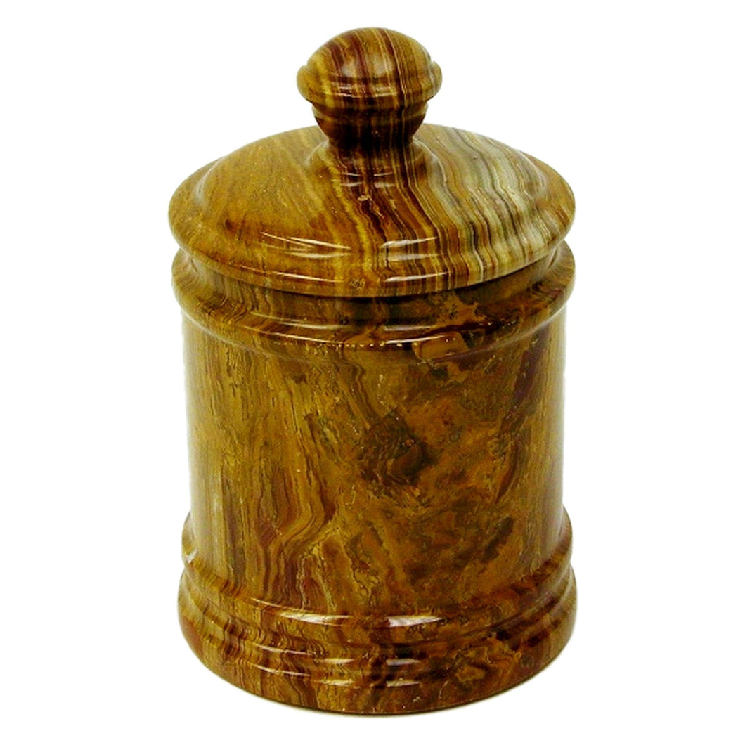 Multi Brown Onyx Classic Kitchen Canister - Nature Home Decor
