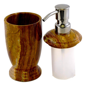 Multi Brown Onyx Lotion | Liquid Soap Dispenser - Nature Home Decor