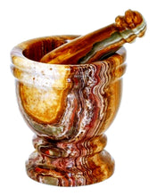 Load image into Gallery viewer, Multi Brown Onyx Mortar & Pestle - Nature Home Decor