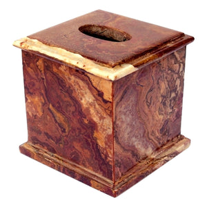 Multi Brown Onyx Tissue Box Cover of Atlantic Collection - Nature Home Decor