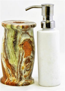 Multi Green Onyx Hand Soap | Lotion Dispensers of Pacific Collection - Nature Home Decor