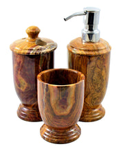 Load image into Gallery viewer, Multi Onyx 3-Piece Bathroom Accessory Set of Atlantic Collection - Nature Home Decor