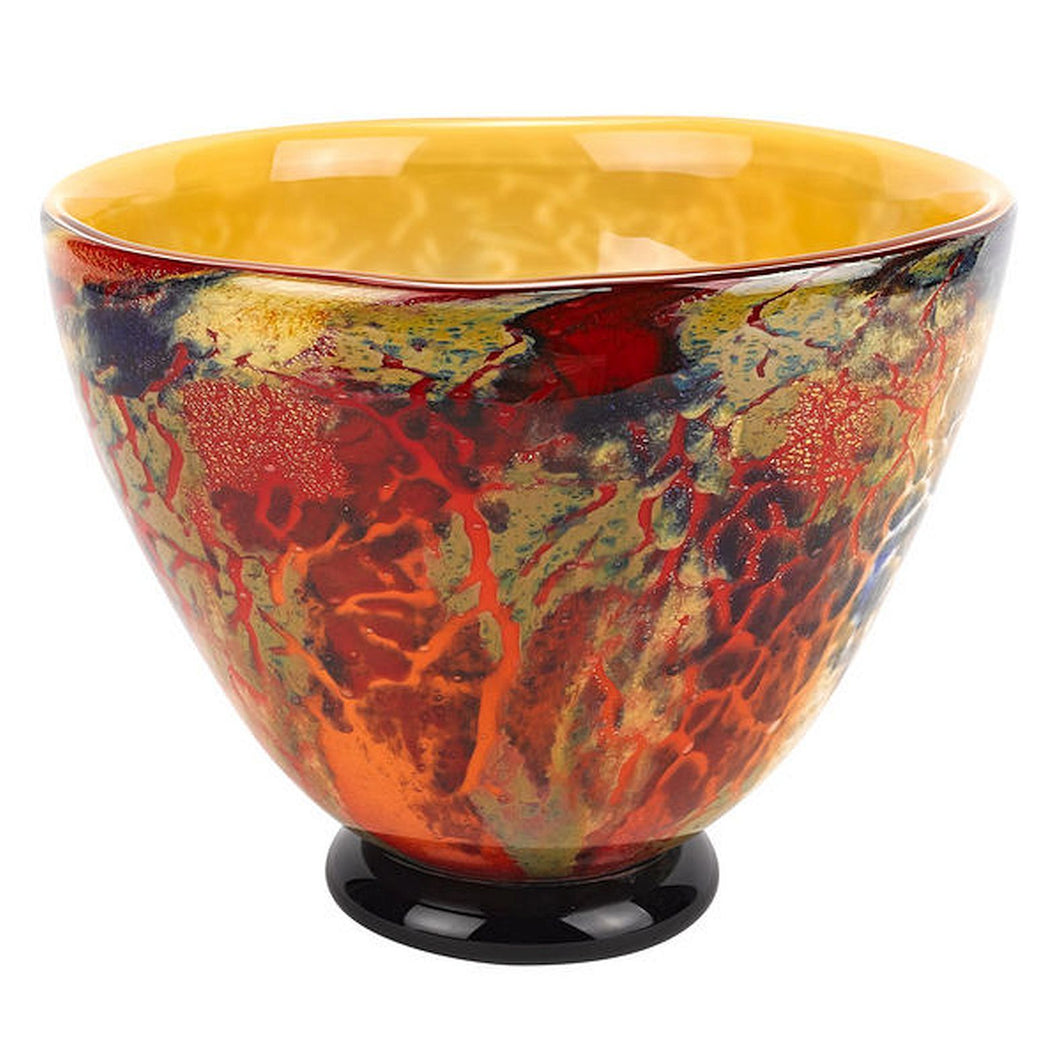 Murano Firestorm Bowl - Nature Home Decor