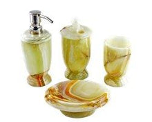 Load image into Gallery viewer, Onyx Marble | Pistachio Onyx 4-Piece Bath Accessory Set - Nature Home Decor