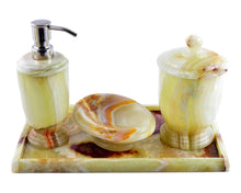 Load image into Gallery viewer, Pistachio Green Onyx Bathroom Accessory Set of Atlantic Collection - Nature Home Decor
