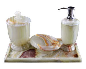 Pistachio Green Onyx Bathroom Accessory Set of Atlantic Collection - Nature Home Decor