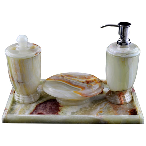 Pistachio Green Onyx Bathroom Set of Atlantic Collection - Nature Home Decor