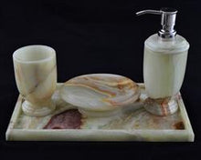 Load image into Gallery viewer, Pistachio Onyx Bathroom Accessories Set of Atlantic Collection - Nature Home Decor