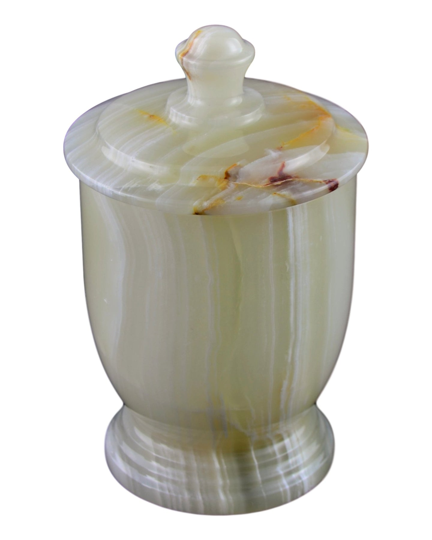 Pistachio Onyx Bathroom Canister | Cotton Jar of Atlantic Collection - Nature Home Decor