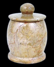 Load image into Gallery viewer, Sahara Beige Marble Bathroom Canister | Cotton Jar - Nature Home Decor
