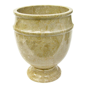 Sahara Beige Marble Bathroom Wastebasket - Nature Home Decor