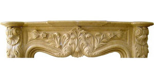 Sahara Beige Marble Fireplace Surround Mantel - Nature Home Decor