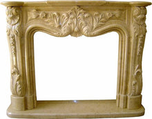Load image into Gallery viewer, Sahara Beige Marble Fireplace Surround Mantel - Nature Home Decor