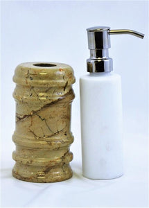 Sahara Beige Marble Lotion / Liquid Soap Dispenser - Nature Home Decor