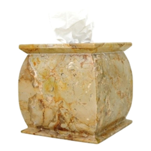 Sahara Beige Marble Tissue Holder - Nature Home Decor
