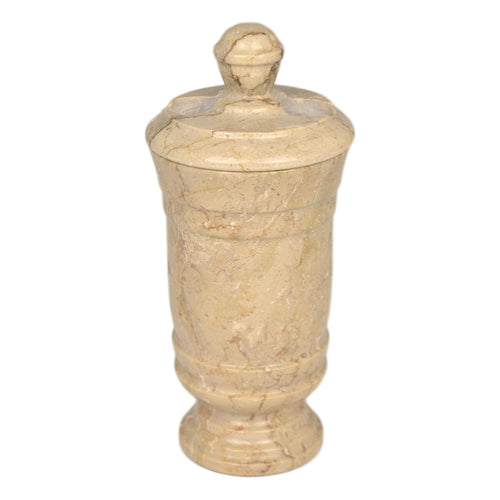 Sahara Beige Marble Toothbrush Holder of Tasmanian Collection - Nature Home Decor