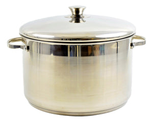 Stainless Steel 11 Quart Stock Pot - Nature Home Decor