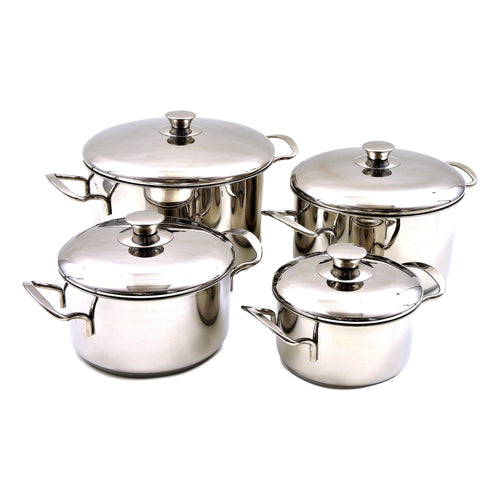 Stainless Steel 8-Piece Cookware Set with Encapsulated Bottom - Nature Home Decor