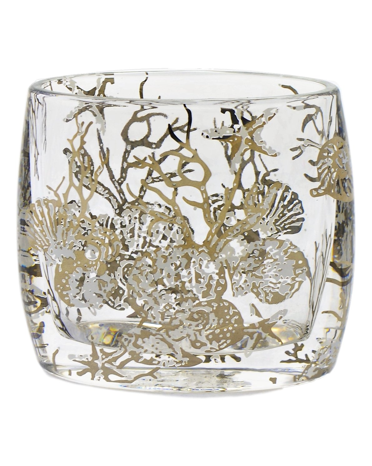 Thick Angus Glass Toothbrush Holder of Antlers Collection - Nature Home Decor