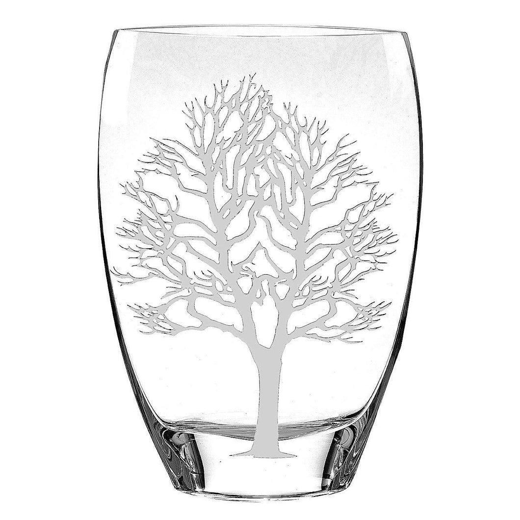 Tree of Life Decorative Crystal Vase - Nature Home Decor