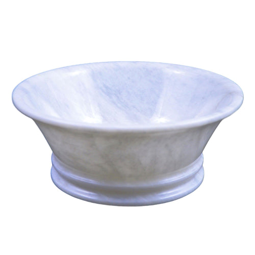 White Fruit Bowl | White Marble 8-inch Classic Fruit Bowl - Nature Home Decor