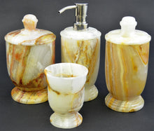 Load image into Gallery viewer, White Onyx 4-Piece Bathroom Accessory Set - Nature Home Decor