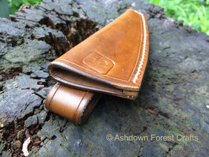 Pinch-type sheath for the Mora Whittler, made from top quality veg-tanned leather
