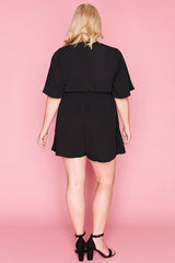 Amie Black Playsuit
