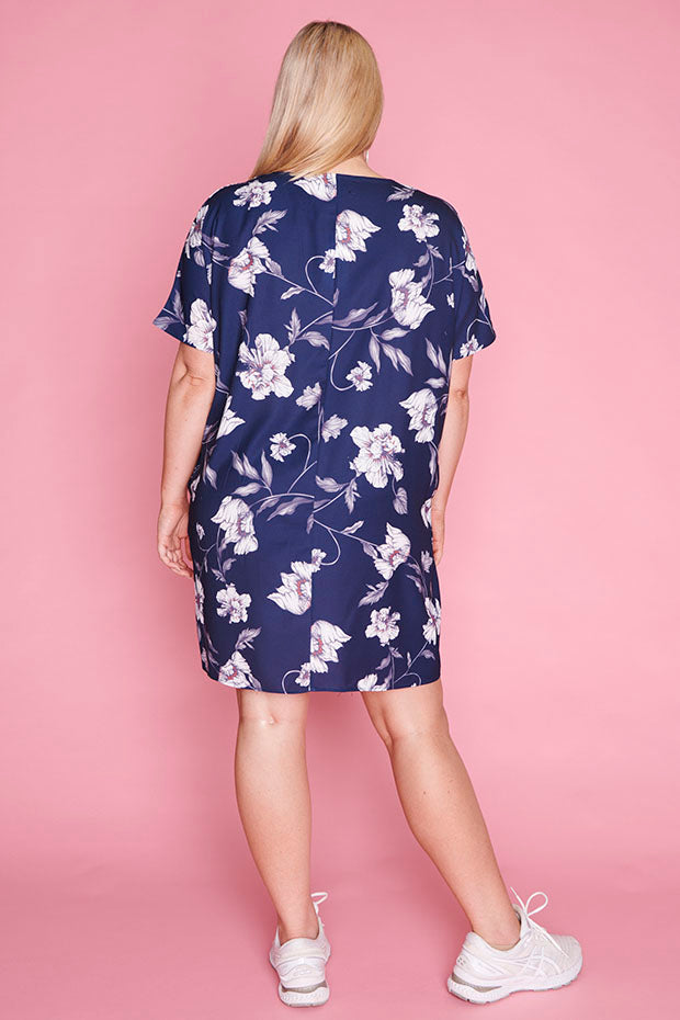 Julia Navy Floral Dress