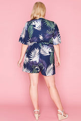 Amie Navy Tropical Playsuit