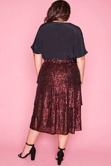 Candice Red Sequin Skirt