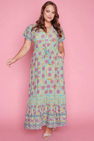 Bonnie Mint Floral Maxi Dress