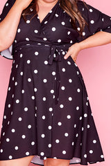 Sarah Polka Dot Wrap Dress