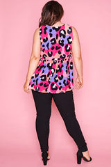 Leah Bright Animal Top