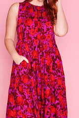 Odyssey Pink & Red Dress