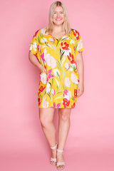 Miami Yellow Floral Dress