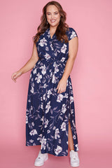 Miley Navy Floral Maxi Dress
