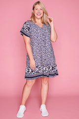 Daniella Navy Floral Dress