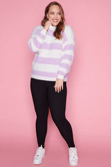 Homebody Lilac Stripe Knit